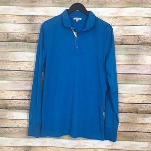 Burberry Brit Cotton Polo Long Sleeve Shirt Size L
